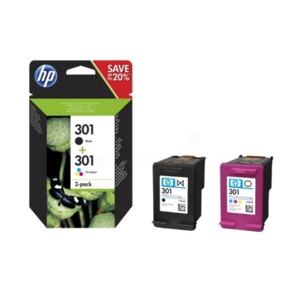 HP Druckkopfpatrone Multipack schwarz + color 301 N9J72AE
