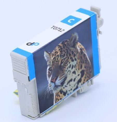 Kompatibel zu Epson T0712 Tinte cyan 5,5 ml / Gepard