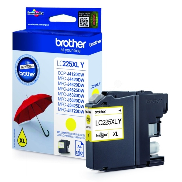Brother LC225XLY Tinte gelb 11,8 ml