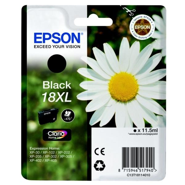 Epson 18XL Tinte schwarz 11,5 ml