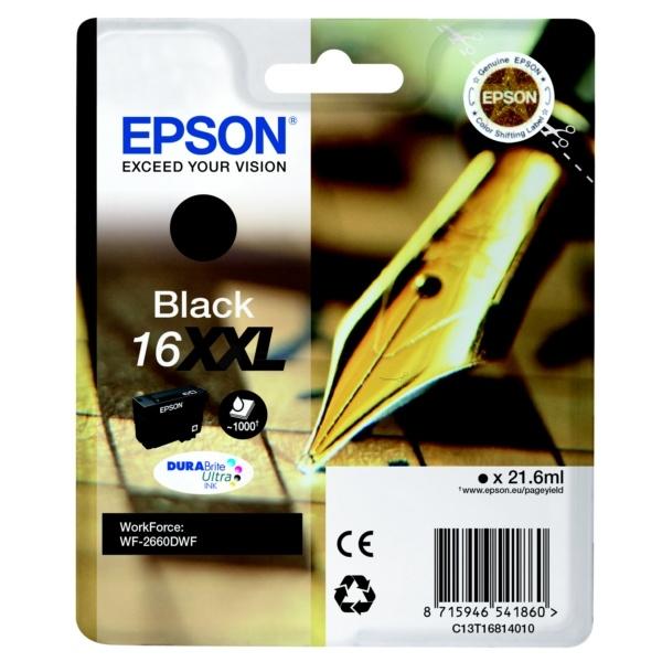 Epson Tintenpatrone schwarz 16XXL C13T16814010
