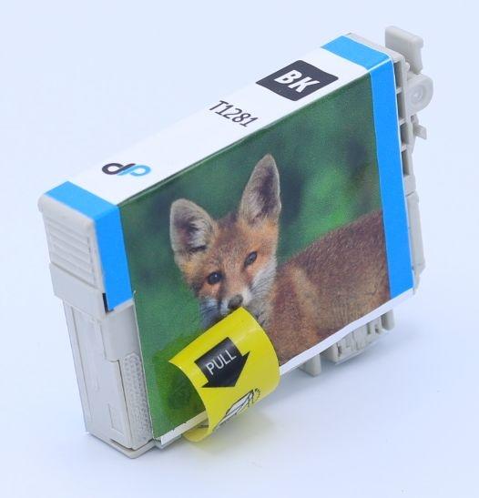 Kompatibel zu Epson T1281 Tinte schwarz 5,9 ml / Fuchs