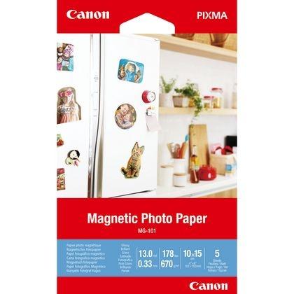 Canon MG-101 Magnetisches Fotopapier, 10 x 15 cm, 5 Blatt