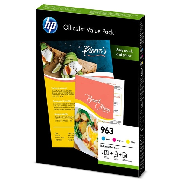 HP 963 MultiPack Tinte cyan magenta yellow