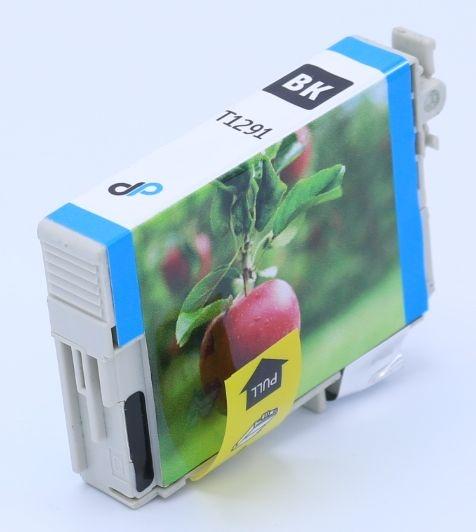 Kompatibel zu Epson T1291 Tinte schwarz 11,2 ml / Apfel