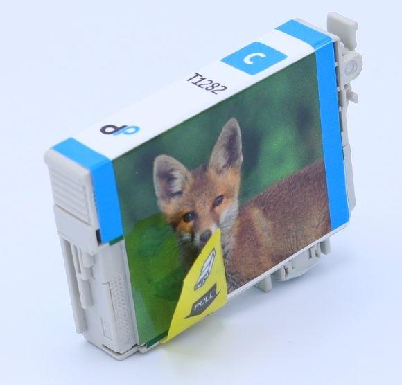 Kompatibel zu Epson T1282 Tinte cyan 3,5 ml / Fuchs
