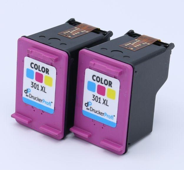DDP Druckkopfpatrone color Doppelpack ersetzt HP 301 XL
