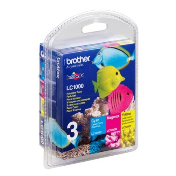 Brother LC1000RBWBP MultiPack Tinte 6,5 ml