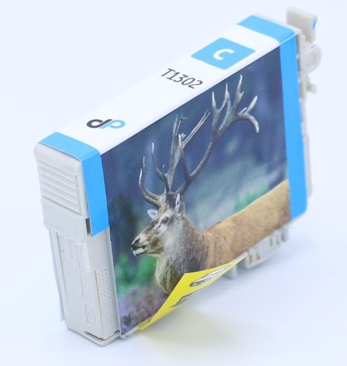 Kompatibel zu Epson T1302 Tinte cyan 10,1 ml / Hirsch
