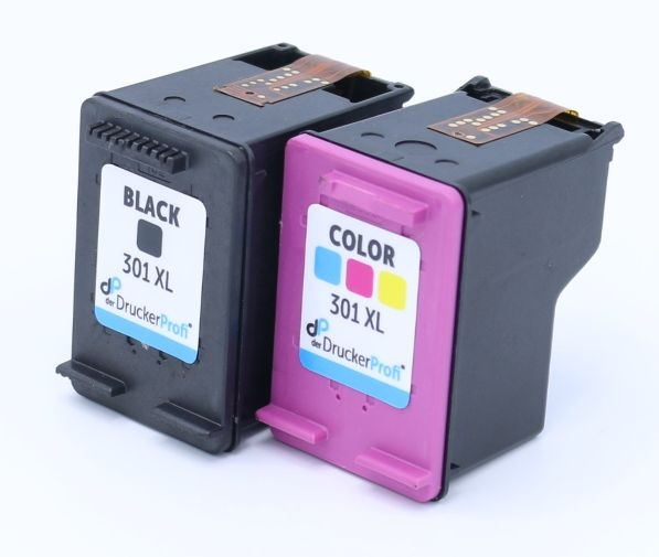 Kompatibel zu HP 301 XL Multipack schwarz + color