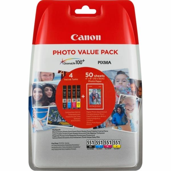 Canon CLI-551 MultiPack Tinte 7 ml