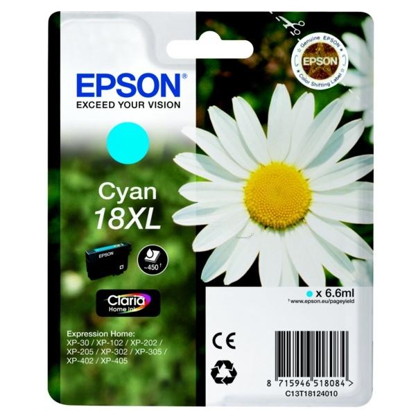 Epson 18XL Tinte cyan 6,6 ml