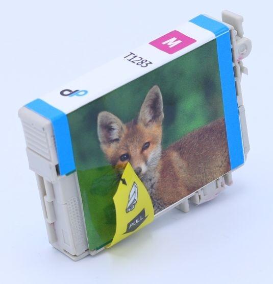 Kompatibel zu Epson T1283 Tinte magenta 3,5 ml / Fuchs