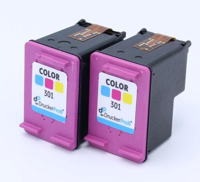 Kompatibel zu HP 301 color Doppelpack, Standard Füllmenge