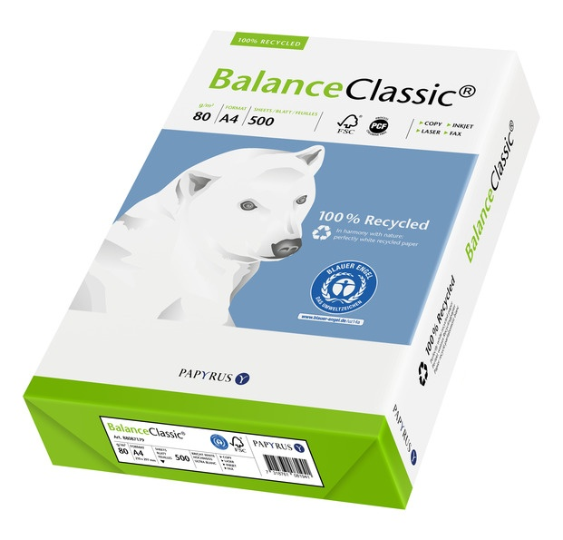 Balance Classic Recyclingpapier, weiß, DIN A4, 80g/m²